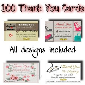 Variety Pack Thank You Cards 100 Count Posh 25each